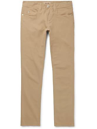 Loro Piana Slim-fit Stretch-cotton Trousers - Beige