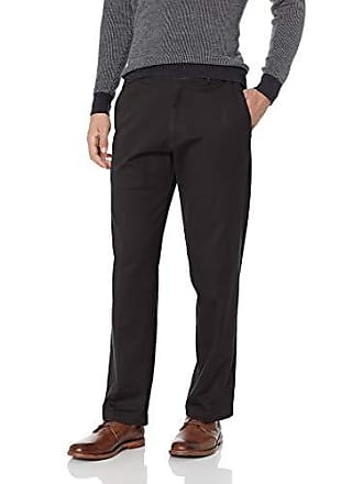 Haggar Mens Work to Weekend PRO Classic Fit Flat Front Pant, Black, 36Wx32L