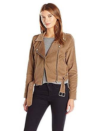 J.O.A. JOA Womens Moto Jacket, Brown Small