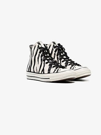 667453013f6abf Converse black and white Chuck Taylor All Stars 70s zebra print high-top  sneakers