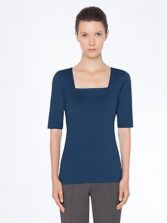 Akris Top in jersey with elbow sleeves