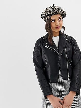 Miss Selfridge Chaqueta biker de cuero sintético negro de Miss Selfridge