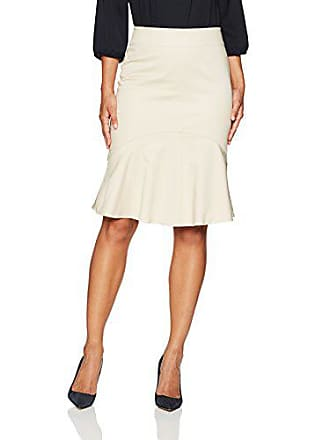 Ellen Tracy Womens Flounce Hem Skirt, Jute 12