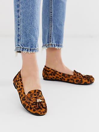 Truffle flat tassel loafers in leopard-Multi