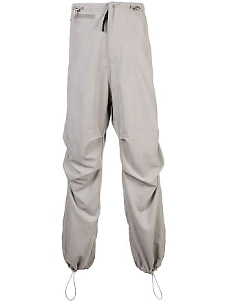 032c ruched detail trousers - Grey