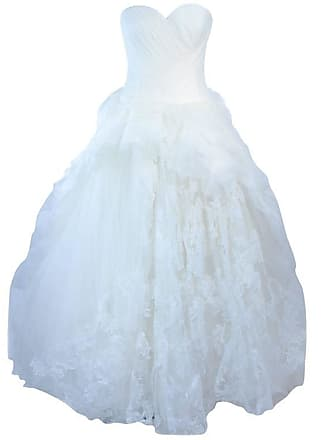 b5efb681c8af Vera Wang White Tulle & Lace Wedding Gown With Gathered Bustier Size 4 10k