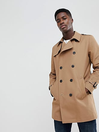 Asos Trench imperméable coupe croisée - Tabac - Marron 258bf59fa7b1