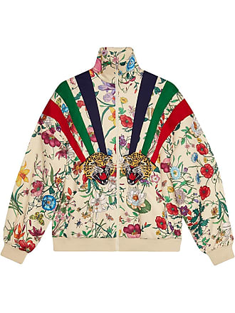 e53422875d4a Gucci Technical jersey jacket with patches - Neutrals