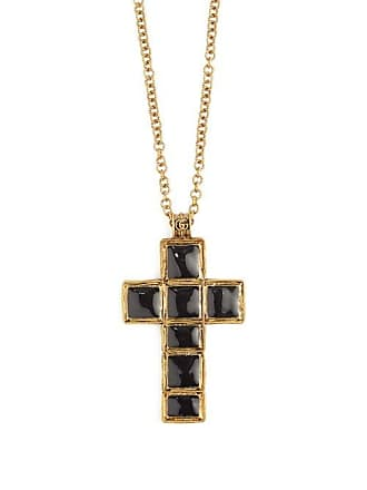 e8a5d2f0c Gucci Cross Pendant Bead Necklace - Womens - Black