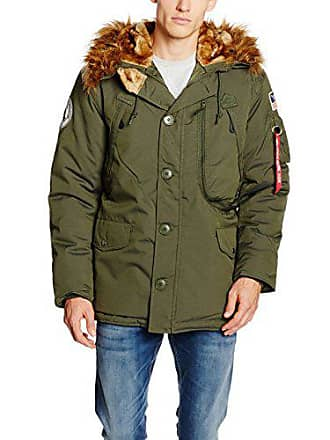 Alpha Industries Herren Parkas Polar Jacket, Grün (Dark Green 257), X- cc96a8d399