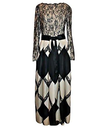 6267acaa97b Bill Blass Vintage Bill Blass Black   Ivory Lace And Silk Taffeta Gown-8