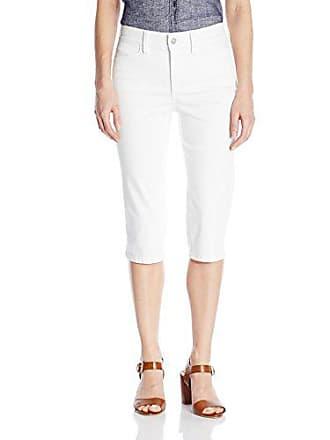 1eb64568ea NYDJ Womens Kaelin Skimmer Jean Short in Colored Bull Denim, Optic White, 12