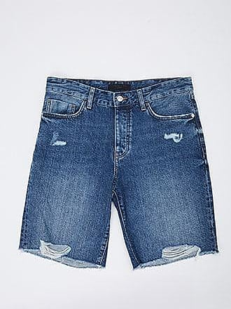21 Men Distressed Denim Shorts at Forever 21 Dark Denim