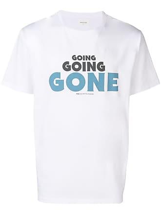 Wood Wood Camiseta decote arredondado com slogan - Branco