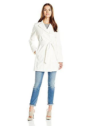 e0400172f7a9 T Tahari Womens Milly Single Breasted Trench with Linen/Lace, Spring White,  Small. USD $109.99