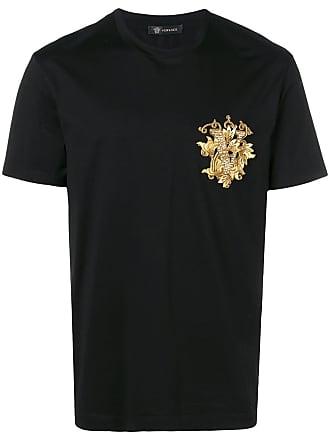 Versace Camiseta com aplicação - Preto
