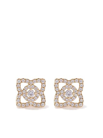 8a40841ae De Beers 18kt yellow gold Enchanted Lotus diamond stud earrings