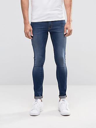 Asos extreme super skinny jeans in dark wash - Blue