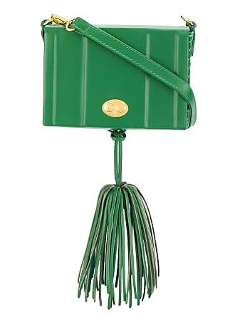 Zeus + Dione Attiki tassel shoulder bag - Green