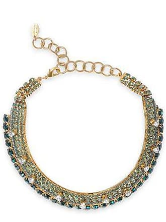 Elizabeth Cole Elizabeth Cole Woman 24-karat Gold-plated Crystal Choker Lime Green Size