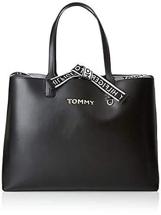 c5cf601b28 Livraison: gratuite. Tommy Hilfiger Iconic Tote, Cabas femme, Noir (Black),  13x30.5x43