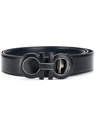 Salvatore Ferragamo double Gancino belt - Black