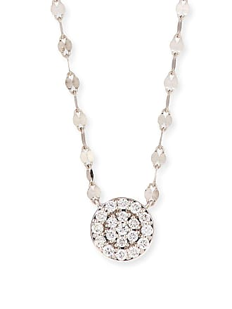 Lana Jewelry 14k Flawless Diamond Pavé Disc Pendant Necklace