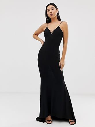 9eded9f26aaa Club L Club L cami strap fishtail maxi dress in black - Black