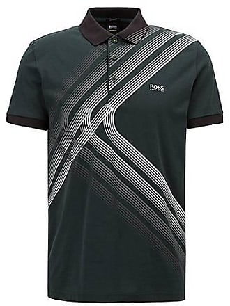 bbe7351f1 BOSS Cotton-jersey polo shirt with city lights artwork