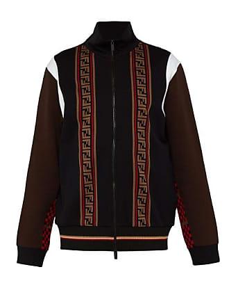 37eff62762 Fendi Ff Logo Jacquard Zip Through Track Jacket - Mens - Black Multi