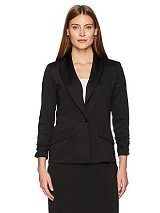Kasper Womens One Button Shawl Jacket, Black, XL