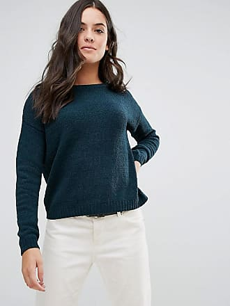 Brave Soul Erin Loose Fit Sweater In Chenille - Green