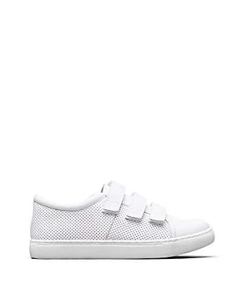 Kenneth Cole Reaction Womens Jovie 2 Triple Strap Sneaker, White, 12 M US