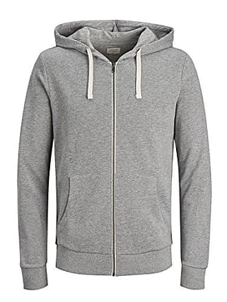 a8ea1ff3509a92 Jack   Jones Herren Sweatjacke Jjeholmen Sweat Zip Hood Noos Grau(Light  Grey MelangeMELANGE -