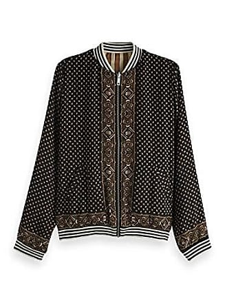 8ca79c0ee144 Scotch   Soda Maison Reversible Bomber Jacket in Various Prints, Blouson  Femme, Noir (