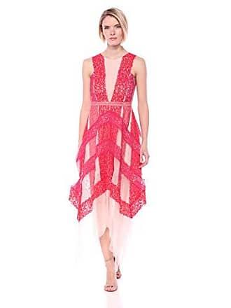 d55654248b0b Bcbgmaxazria BCBGMax Azria Womens Floral Lace Handkerchief Dress, Bright  Coral Mist, 2
