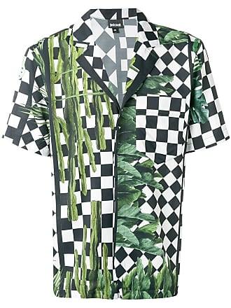 Just Cavalli Camiseta com estampa xadrez - Preto