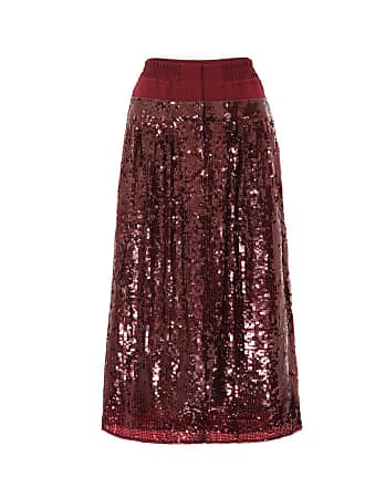 Tibi Sequined silk skirt