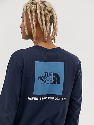 The North Face Red Box long sleeve t-shirt in navy - Navy