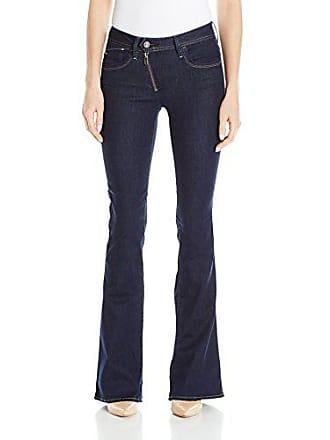 G-Star Womens Lynn Zip High Rise Flare Leg Jean, Rinsed 32