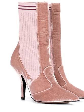 9e9e6e3ec61a Fendi Exclusive to mytheresa.com - velvet ankle boots