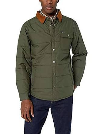 36a12d65531 Brixton Mens Cass Standard Fit Quilted Jacket, Pine XL