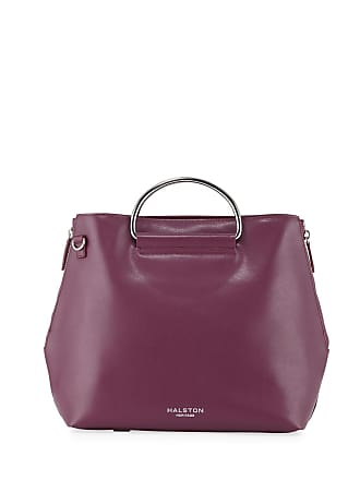 e93f8f2afa Halston Heritage Port Ring-Handle Leather Tote Bag