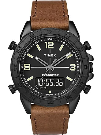 Timex Watch Mens Expedition Pioneer Combo 41MM Quick-Release Leather Strap Black/brown/black Item Tw4B17400Za
