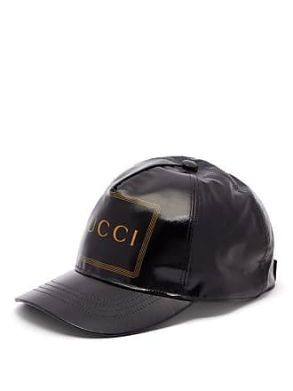 8591a0233 Gucci Logo Print Coated Cotton Cap - Mens - Black