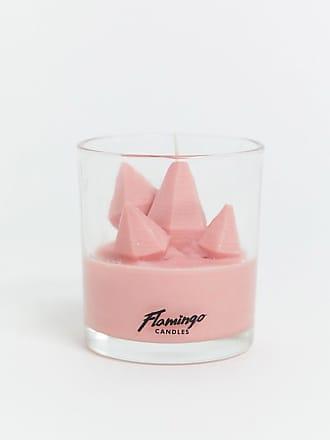 Flamingo Candles Candela al fiore di loto e alla rosa con frammenti di cristalli-Multicolore