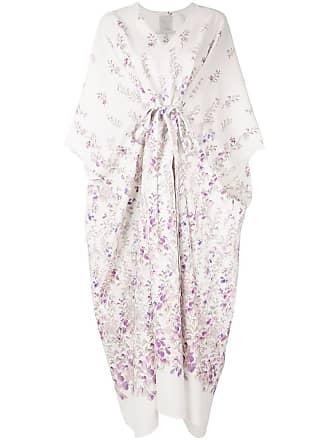Ingie Paris Vestido quimono com estampa floral - Branco