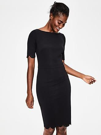 Boden Emma Ponte Dress Black Women Boden