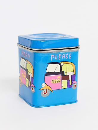 Ian Snow Rickshaw - Contenitore in acciaio inox dipinto a mano-Multicolore