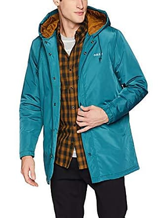 Obey Mens SINGFORD Durable Insulated Parka Jacket, Pine, X-Large
